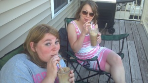 Root beer floats on the deck!